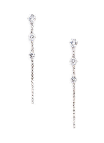 Crystal Tier Dangle Earrings, , hi-res