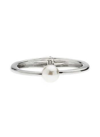 Pearl Top Hinge Bangle, , hi-res