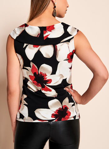 Sleeveless Floral Print Top, , hi-res