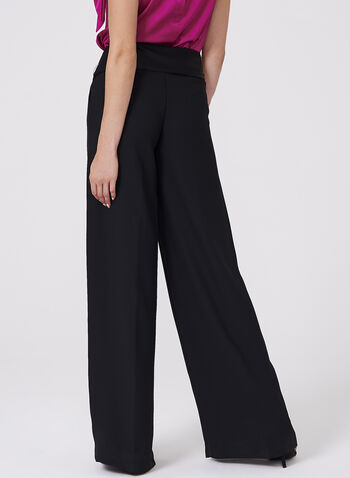 Wide Leg Crepe Pants, , hi-res