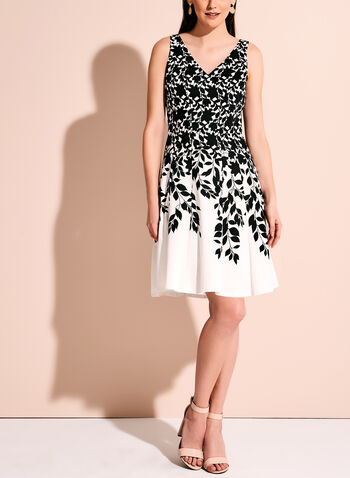 Maggy London Contrast Fit & Flare Dress, , hi-res