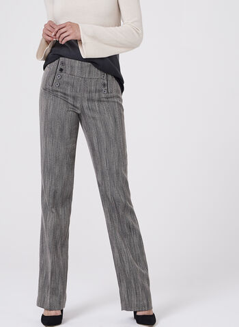 Herringbone Wide Leg Pants, , hi-res