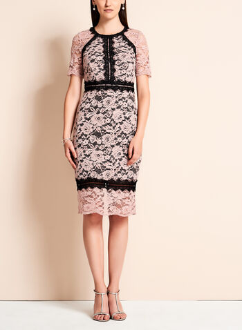 Jax - Colour Block Lace Sheath Dress, , hi-res