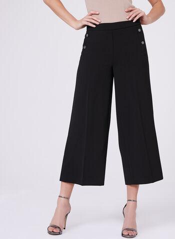 Wide Leg Culotte Pants , , hi-res