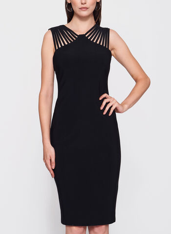 Frank Lyman - Lace Effect Yoke Jersey Dress, , hi-res