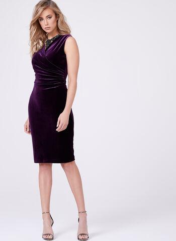 Frank Lyman - V-Neck Velvet Dress, , hi-res
