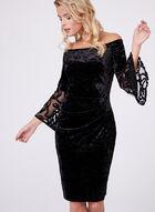 Cachet - Off-The-Shoulder Velvet Dress, Black, hi-res