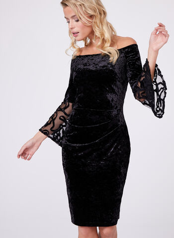 Cachet - Off-The-Shoulder Velvet Dress, , hi-res
