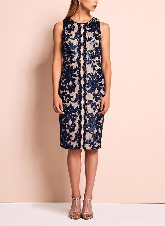 Jax Sequin Lace Sheath Dress, Blue, hi-res