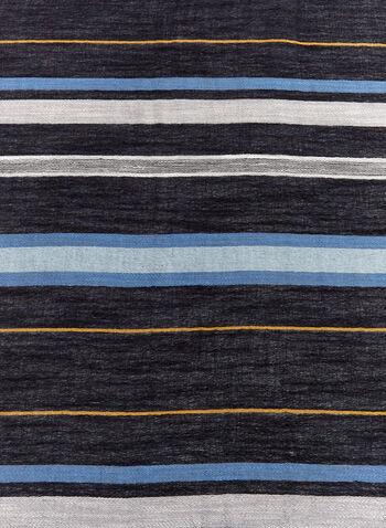 Stripe Cotton Scarf , , hi-res