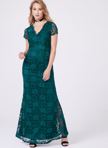 Ellen Tracy - Empire Waist Lace Gown, , hi-res