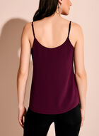 Double Layer Crepe Tank Top, Red, hi-res