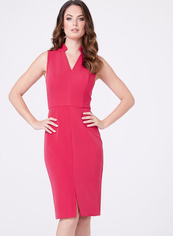 Chetta B - Structured V-Neck Dress , , hi-res