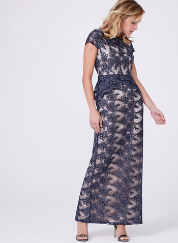 Decode 1.8 - Off The Shoulder Glitter Lace Dress, , hi-res