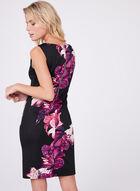 Floral Print Scuba Dress , Black, hi-res