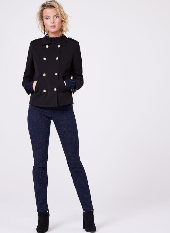 Jacquard Pull-On Pants, Blue, hi-res