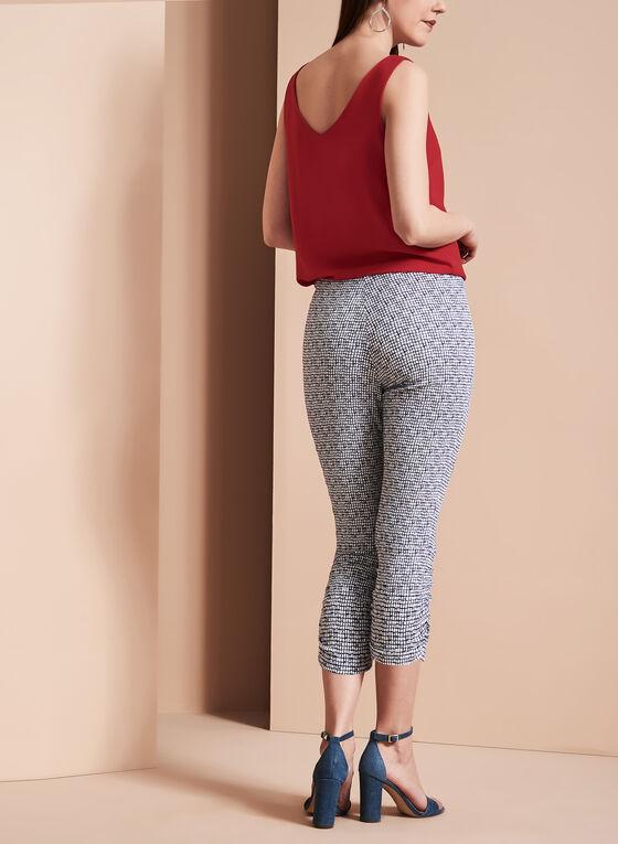 Plaid Print Capri Pants, Blue, hi-res