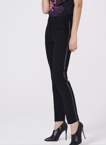 Jacquard Slim Leg Pants, , hi-res