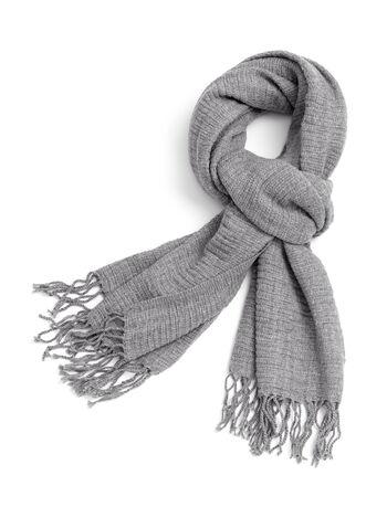 Fringe Knit Scarf , , hi-res