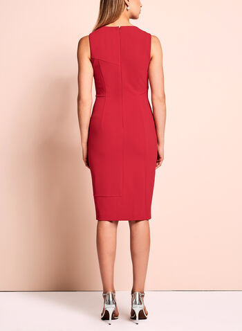 Ivanka Trump Scuba Zipper Trim Dress, , hi-res