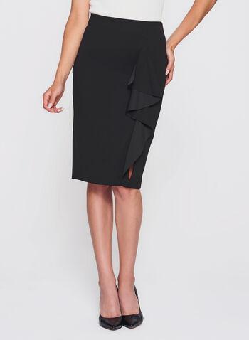 Ruffle Front Pencil Skirt , , hi-res