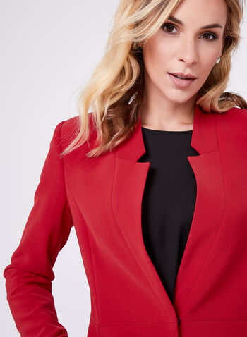 Long Notch Collar Blazer, , hi-res