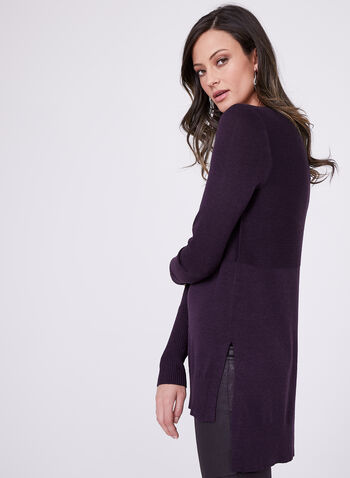 Mixed Stitch Tunic Sweater, , hi-res