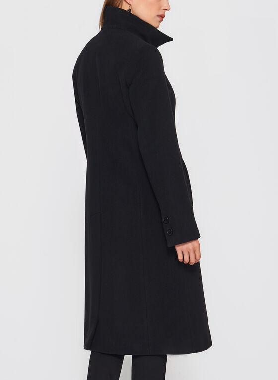 Mallia - Fit & Flare Wool Blend Coat, Black, hi-res