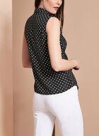 Vex Sleeveless Dot Print Blouse, Black, hi-res