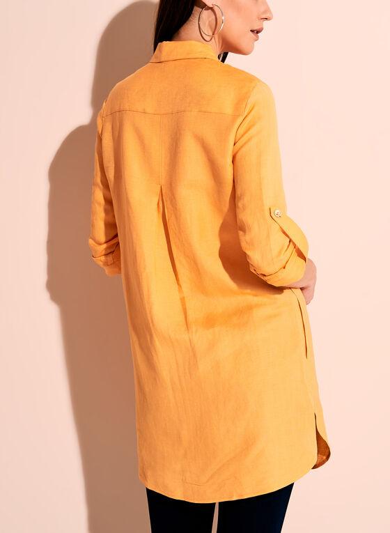 Dual Pocket Button Down Tunic, Orange, hi-res