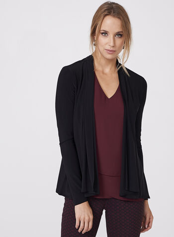 Long Sleeve Open Front Cardigan, , hi-res
