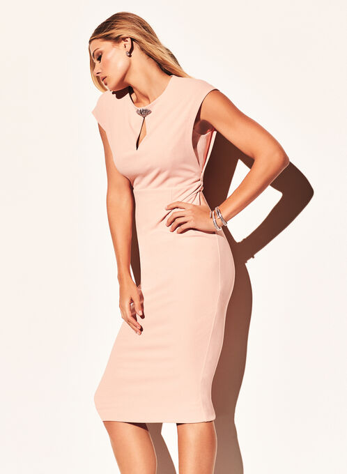 Maggy London Jewel Trim Dress, Pink, hi-res