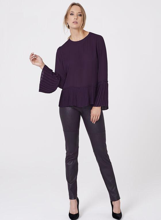 Faux Leather Leggings , Purple, hi-res