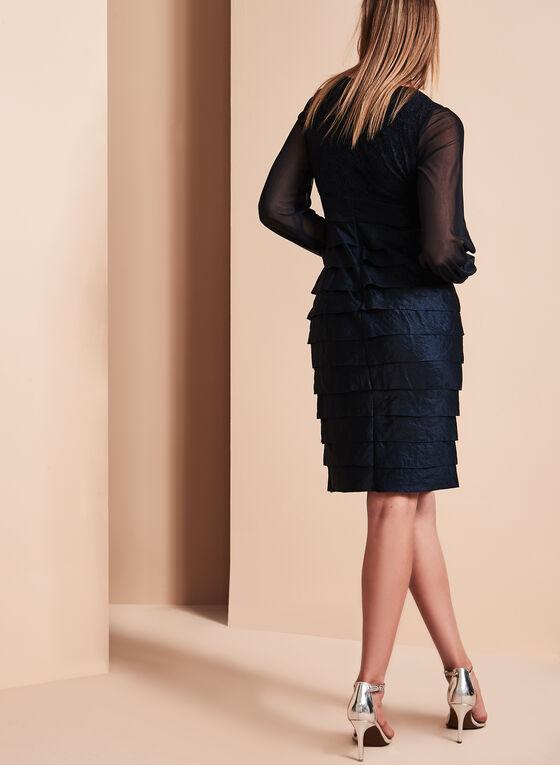 Maggy London Lace Shutter Dress , Blue, hi-res