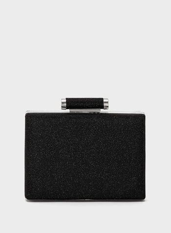 Two-Tone Glitter Box Clutch, , hi-res