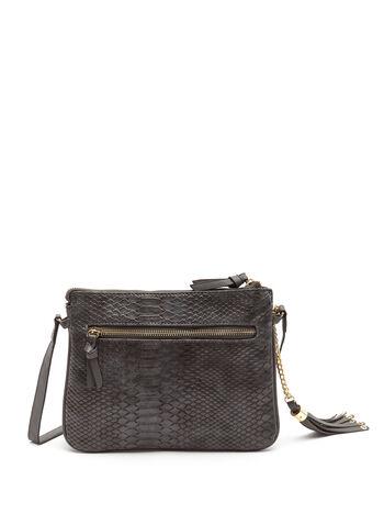 Faux Crocodile Crossbody Bag, , hi-res