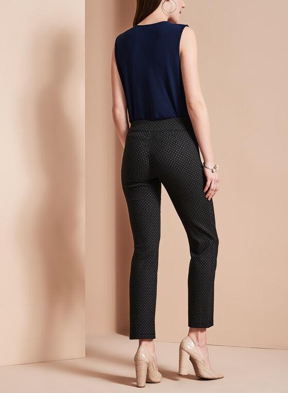 Diamond Jacquard 7/8 Pants, Black, hi-res