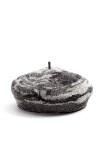 Swirl Print Wool Beret, , hi-res