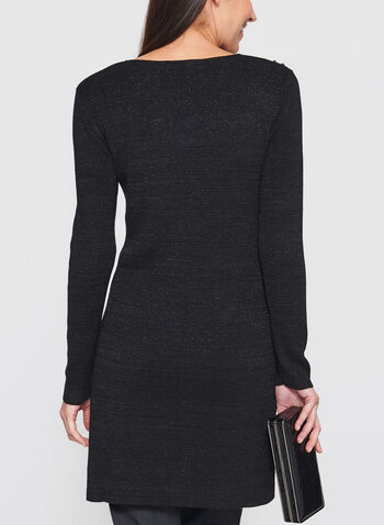 Studded Glitter Tunic Sweater, , hi-res