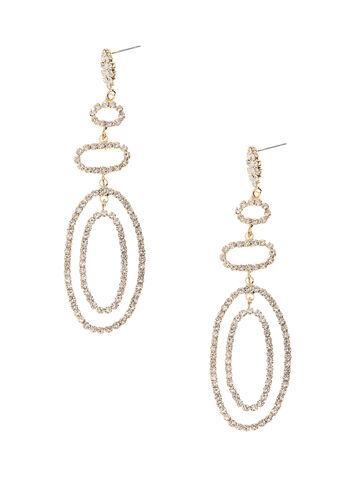 Tiered Crystal Chandelier Earrings, , hi-res