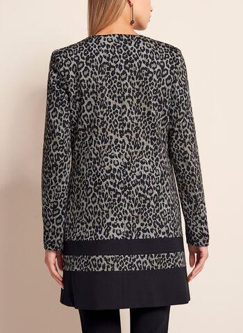 Leopard Print Long Blazer, , hi-res