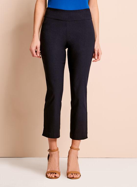 Pull-On Stretch Capri Pants, Blue, hi-res