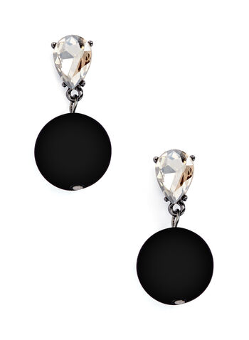 Teardrop Crystal & Ball Dangle Earrings, , hi-res