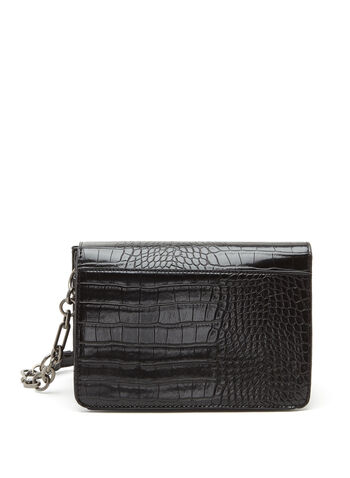 Textured Faux Leather Crossbody Handbag, , hi-res