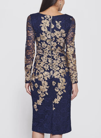 Floral Lace Two-Tone Dress, , hi-res