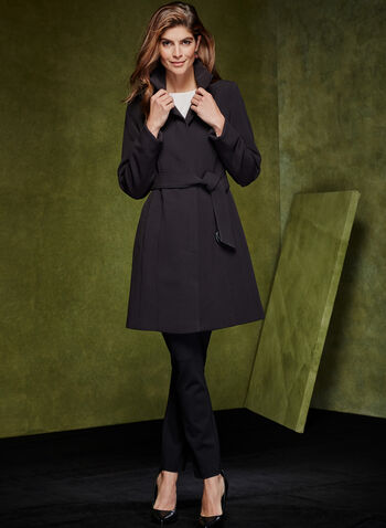 Belted Wool Like Coat, , hi-res