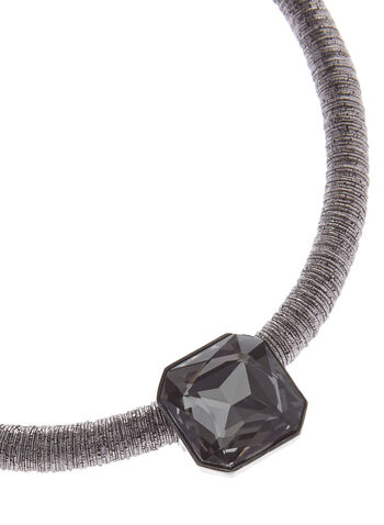 Square Crystal Cord Necklace, , hi-res