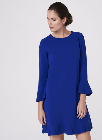 Maggy London - Ruffle Trim Crepe Dress, , hi-res