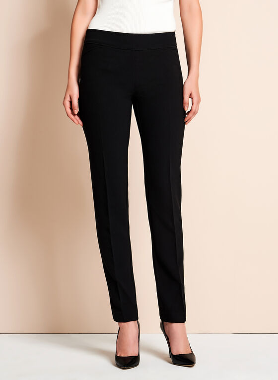 Skye Straight Fit Slim Leg Pants, Black, hi-res
