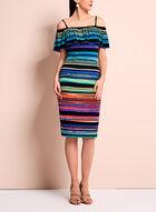Maggy London Off The Shoulder Stripe Dress, Multi, hi-res